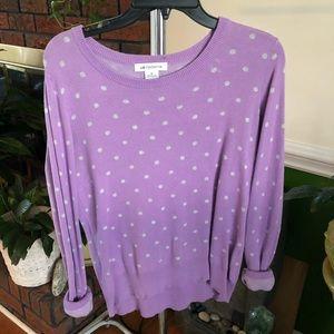 Purple & White Polkadot Sweater